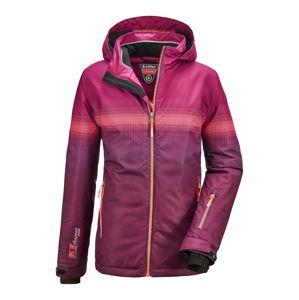 KILLTEC Športová bunda 'Glenshee'  slivková / ružová / tmavoružová