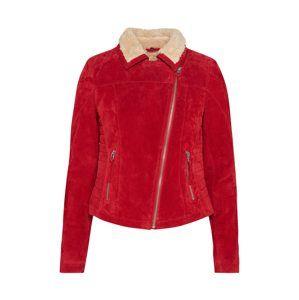 FREAKY NATION Prechodná bunda 'TEDDY STAR'  karmínovo červená / prírodná biela