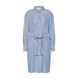 VILA Košeľové šaty 'Visuka'  biela / modré