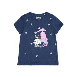 STACCATO Tričko  modré / ružová / strieborná