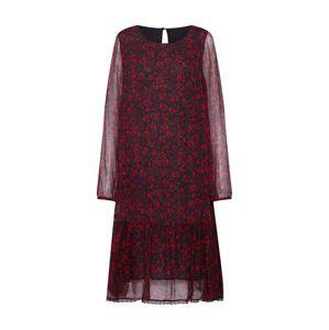 Frogbox Letné šaty  červené / čierna