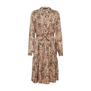 VERO MODA Košeľové šaty 'VMKATE LS BLK DRESS WVN'  čierna / béžová