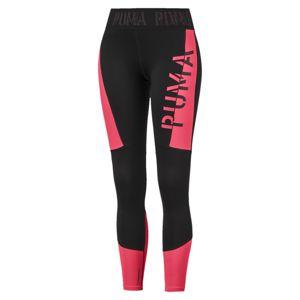 PUMA Športové nohavice  čierna / ružová