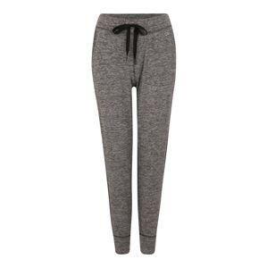 GAP Športové nohavice 'BRUSHED'  sivá / čierna
