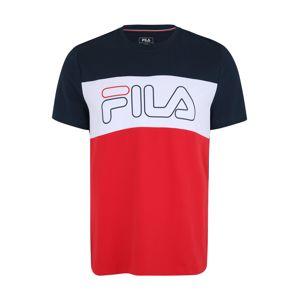 FILA Funkčné tričko 'Rudi'  modré / červené / biela