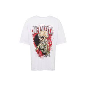 JACK & JONES Tričko 'METALLICA'  zmiešané farby / biela