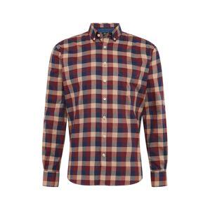 FYNCH-HATTON Košeľa  karmínovo červená / pastelovo červená / sivá / námornícka modrá / tmelová