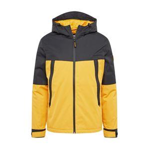 JACK & JONES Zimná bunda 'BEATLE'  čierna / zlatá žltá