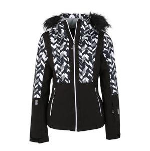 ICEPEAK Outdoorová bunda 'NANCY'  čierna / biela