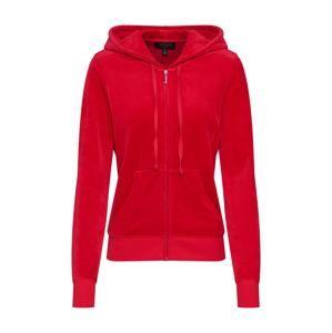 Juicy Couture Black Label Tepláková bunda 'Velour Robertson'  červené