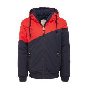 Ragwear Zimná bunda 'WINGS'  belasá ako encián / červené