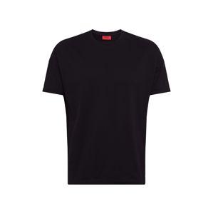 HUGO Tričko 'Dalypso'  čierna