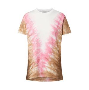 Ragdoll LA Tričko 'Tie Dye Vintage'  biela / ružová
