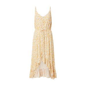 Tally Weijl Letné šaty 'Woven'  biela / žltá