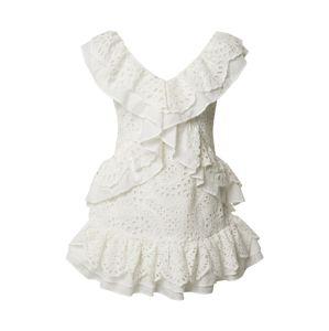 GLAMOROUS Kokteilové šaty  šedobiela