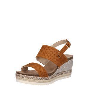 H.I.S Remienkové sandále  béžová / farba ťavej srsti