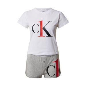 Calvin Klein Underwear Pyžamo  sivá / biela