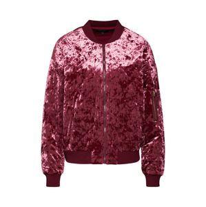 Juicy Couture Black Label Prechodná bunda 'Crushed Velour Quilted Bomber Jacket'  vínovo červená