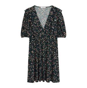 MANGO Šaty  tmavozelená / biela / staroružová / rubínová / zmiešané farby