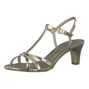 TAMARIS Remienkové sandále 'Medium Absatz Sandal'  bronzová / zlatá