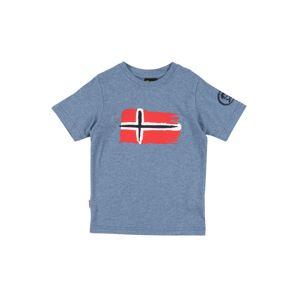 TROLLKIDS Funkčné tričko 'Oslo'  červená / modrosivá