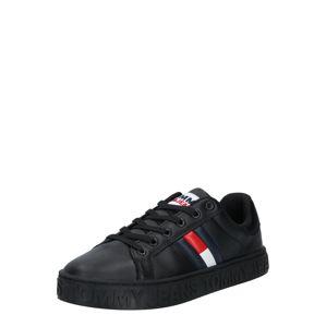 Tommy Jeans Nízke tenisky  čierna / červená