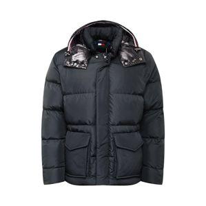 TOMMY HILFIGER Zimná bunda 'TOMMY HOODED BOMBER'  čierna