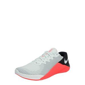 NIKE Športová obuv 'METCON 5'  svetlosivá / čierna / pastelovo oranžová