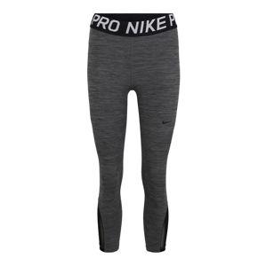 NIKE Športové nohavice 'Nike Pro'  čierna / sivá
