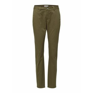 SELECTED FEMME Chino nohavice  olivová