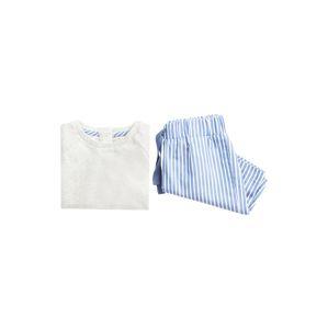 MANGO KIDS Pyžamo 'ALVARO'  modrá / biela