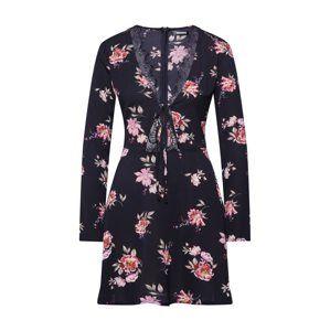 Missguided Letné šaty  svetlozelená / čierna / biela