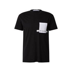 Calvin Klein Tričko 'INSTIT'  čierna / biela