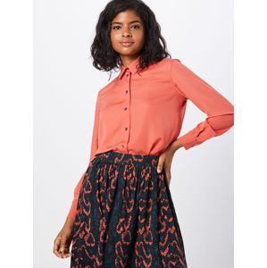 Calvin Klein Blúzka 'PIPING'  oranžovo červená