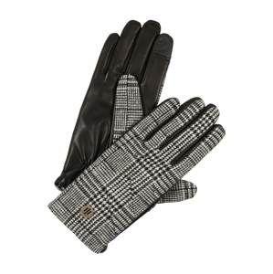 TOMMY HILFIGER Prstové rukavice 'TH LEATHER GLOVES POW'  sivá