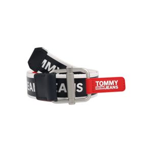 Tommy Jeans Opasky  čierna / biela / červená