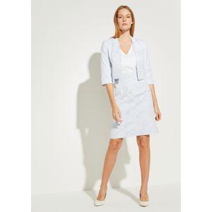 COMMA Puzdrové šaty  biela / svetlomodrá