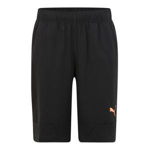 PUMA Športové nohavice  koralová / čierna