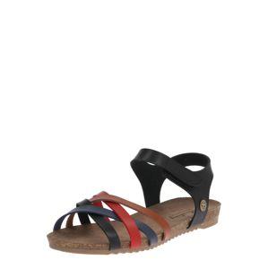 MUSTANG Sandále  čierna / zmiešané farby