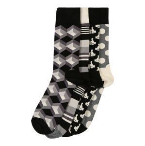 Happy Socks Ponožky 'Black And White Gift Box'  zmiešané farby