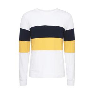 River Island Tričko  biela / žltá / námornícka modrá