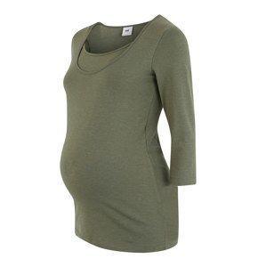 MAMALICIOUS Tričko 'JANE NELL'  so zelenými fľakmi