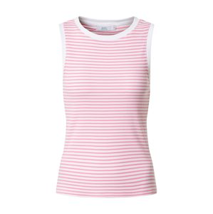 EDC BY ESPRIT Top 'Stripe Rib Tank T-Shirts sleeveless'  ružová