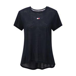 Tommy Sport Funkčné tričko 'PERFORMANCE LBR TOP'  tmavomodrá
