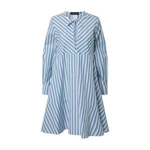 Sportmax Code Košeľové šaty 'Abbono'  modrá / biela / tmavofialová