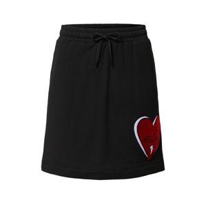 Love Moschino Sukňa  čierna / červená / biela