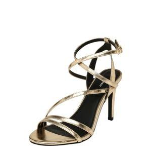 ONLY Remienkové sandále 'AILA'  zlatá