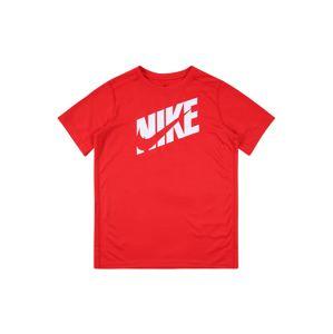 NIKE Funkčné tričko  svetločervená / biela