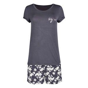 Skiny Pyjama Soul Sleep mit kurzem Bein  sivá