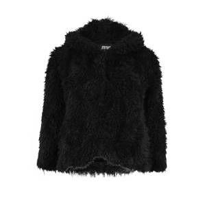 Urban Classics Curvy Zimná bunda 'Hooded Teddy Jacket'  čierna